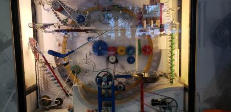 Display inside of an employee arcade at the Google Campus in Mountain View, CA.