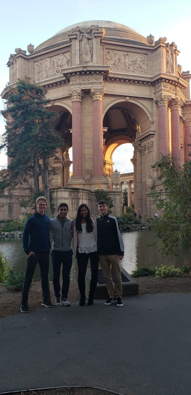 BizTech's Eboard reunites with founding president, Adam Whitaker, at the Palace of Fine Arts in San Francisco, CA