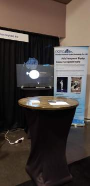 Fully Transparent Display by Shenzen Photonic Crystal Technology Co. at the Silicon Valley Innovation and Entrepreneurship Forum.