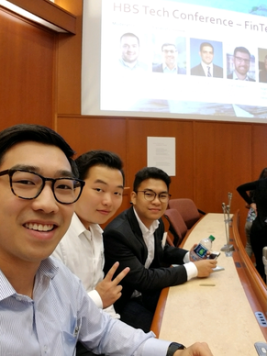 BizTech members in a Tech Conference at the Harvard Business School in October, 2017