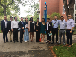 BizTech members at the Harvard Business School Tech Conference in October, 2017.